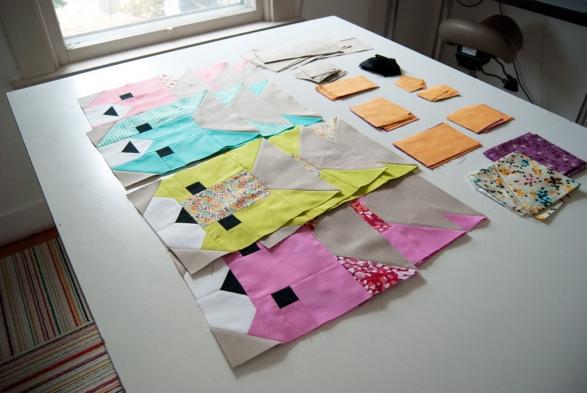 The Kittens Cat Head Quilt Blocks by ReallyHandmade.com